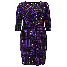 Buy Studio 8 Julie Grid Dress, Purple Online at johnlewis.com