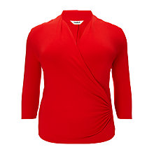 Buy Studio 8 Agatha Ruched Jersey Top, Red Online at johnlewis.com