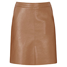 Buy Warehouse Faux Leather Pocket Skirt, Tan Online at johnlewis.com