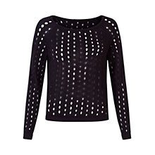 Buy Damsel in a dress Vested Interest Knit Top, Black Online at johnlewis.com