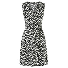 Buy Warehouse Mono Floral Print Dress, Multi/Black Online at johnlewis.com