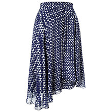 Buy Phase Eight Quin Printed Skirt, Blue/Ivory Online at johnlewis.com