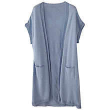 Buy Wrap London Becky Cardi, Denim Blue Online at johnlewis.com