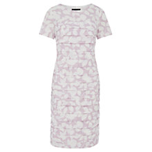 Buy Viyella Leaf Print Shutter Dress, Lilac Online at johnlewis.com