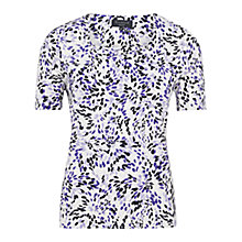Buy Viyella Petite Firework Print Top, Blue Online at johnlewis.com