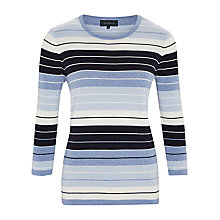 Buy Viyella Cotton Striped Jumper, Blue Multi Online at johnlewis.com