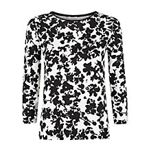 Buy Hobbs Orkney Top, Ivory/Black Online at johnlewis.com