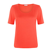 Buy Hobbs Laurie Top, Hot Red Online at johnlewis.com