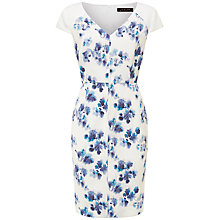 Buy Jaeger Silk Ghost Dress, Multi Blue Online at johnlewis.com