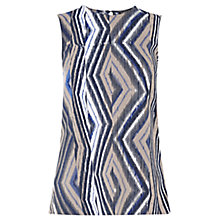 Buy Warehouse Zig Zag Button Back Top, Multi Online at johnlewis.com