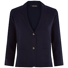 Buy Jaeger Knitted Blazer, Midnight Online at johnlewis.com