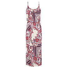 Buy Warehouse Paisley Print Midi Dress, Multi Online at johnlewis.com