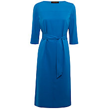 Buy Jaeger Cocoon Pleat Dress, Mykonos Blue Online at johnlewis.com