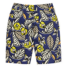 Buy Warehouse 70w Leaf Print Shorts, Multi Online at johnlewis.com