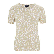 Buy Viyella Petite Leaf Print T-Shirt, Stone Online at johnlewis.com