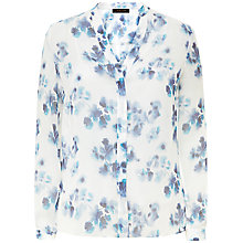 Buy Jaeger Silk Ghost Blouse, Multi Blue Online at johnlewis.com