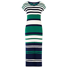 Buy Warehouse Engineered Stripe Midi Dress, Multi Online at johnlewis.com