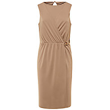Buy Jaeger Jersey Belted Dress, Mushroom Online at johnlewis.com
