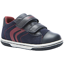 Buy Geox Flick Rip-Tape Trainers, Navy/Red Online at johnlewis.com