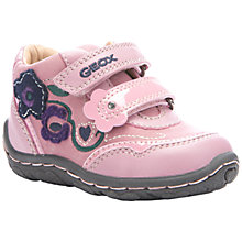 Buy Geox Lolly Rip-Tape Shoes, Pink Online at johnlewis.com