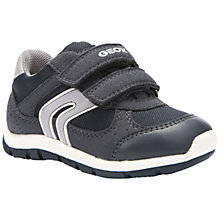 Buy Geox Shaax Rip-Tape Trainers, Grey Online at johnlewis.com
