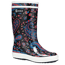 Buy Aigle Lolly Pop Print Faux Fur Lined Wellingtons, Multi Online at johnlewis.com