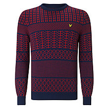 Buy Lyle & Scott Crew Neck Fair Isle Jumper, Navy Online at johnlewis.com