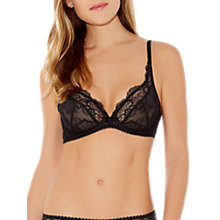 Buy Wacoal Vision Lace Underwired Bra, Black Online at johnlewis.com