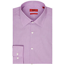 Buy HUGO by Hugo Boss Jacob Stripe Slim Fit Shirt, Purple Online at johnlewis.com