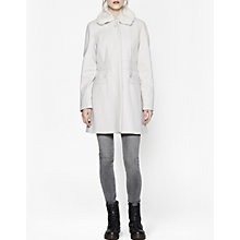 Buy French Connection Fur Collar Coat, Barley Sugar Online at johnlewis.com