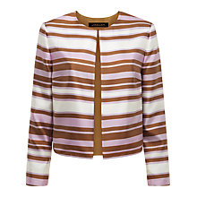 Buy Jaeger Irregular Stripe Jacket, Lavender / Bronze Online at johnlewis.com