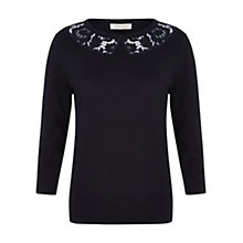 Buy Hobbs Fife Sweater, Navy Online at johnlewis.com