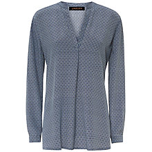 Buy Jaeger Silk Circular Tile Print Tunic, Multi Blue Online at johnlewis.com