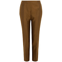 Buy Jaeger Silk Cotton Capri Trousers, Bronze Online at johnlewis.com