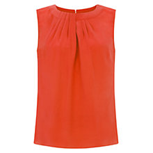 Buy Hobbs Silk Airlie Top, Hot Red Online at johnlewis.com