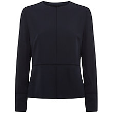Buy Jaeger Silk Waisted Jacket, Midnight Online at johnlewis.com