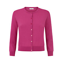 Buy Hobbs Burton Cardigan, Shocking Pink Online at johnlewis.com
