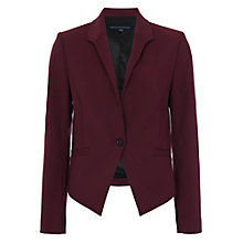Buy French Connection Glass Stretch Jacket, Biker Berry Online at johnlewis.com