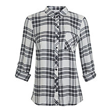 Buy Miss Selfridge Check Shirt, Black/Grey Online at johnlewis.com
