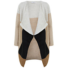 Buy Miss Selfridge Colourblock Waterfall Cardigan, Cream Online at johnlewis.com