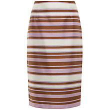 Buy Jaeger Irregular Stripe Skirt, Lavender / Bronze Online at johnlewis.com