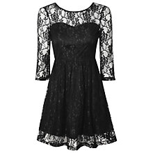 Buy True Decadence Sweetheart Lace Skater Dress, Black Online at johnlewis.com