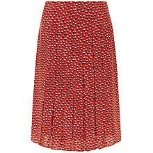 Buy Jaeger Double Spot Print Pleat Skirt, Multi Red Online at johnlewis.com