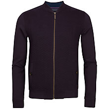 Buy Ted Baker Zip Through Top, Deep Purple Online at johnlewis.com