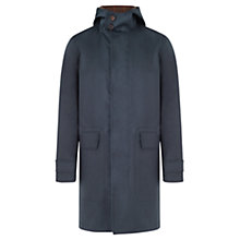 Buy Jigsaw Bonded Cotton Millerain Parka, Navy Online at johnlewis.com