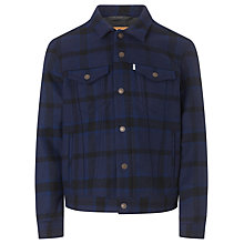 Buy Levi's Ingleside Plaid Wool Trucker Jacket Online at johnlewis.com