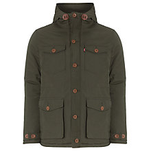 Buy Levi's Sutro Thermore Long Parka, Rosin Green Online at johnlewis.com
