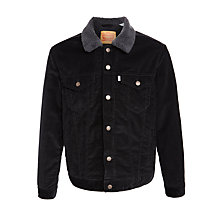 Buy Levi's Sherpa Trucker Jacket, Black Sherpa Online at johnlewis.com