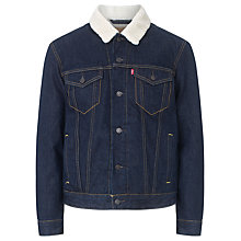 Buy Levi's Sherpa Denim Jacket, Juniper Rise Online at johnlewis.com