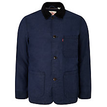 Buy Levi's Engineered Coat Wax Cotton Mix Jacket, Nightwatch Blue Online at johnlewis.com